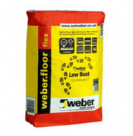 WEBER FLOOR FLEX LEVELLING LOW DUST COMP'D 50MM(25kg)